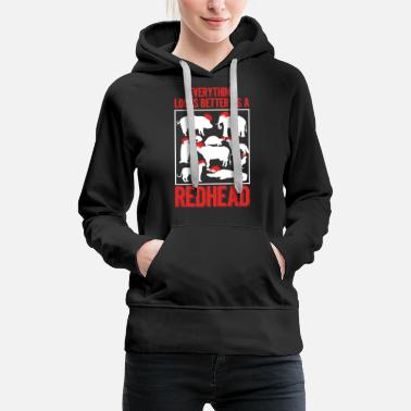 Ginger Redhead Animals Ginger Red Hair Redheads Gift - Women's Premium Hoodie