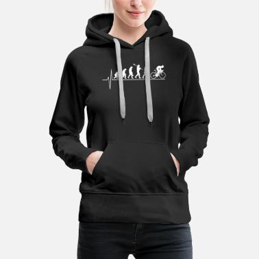 Cycling Bicycle evolution - Women's Premium Hoodie