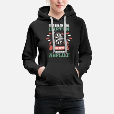Bar Darts darts darts saying - Women's Premium Hoodie