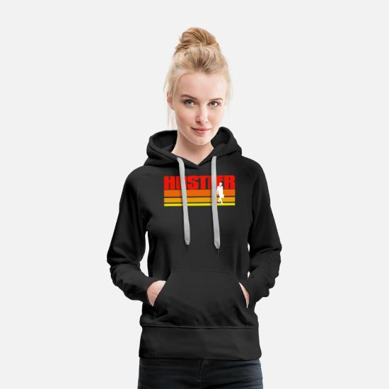 Wealth Hoodies & Sweatshirts - Distressed Hustler Gift Idea - Women's Premium Hoodie black