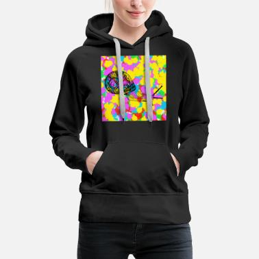Funky Snail Pop Color Tie Dye Background Funky Indie - Sweat à capuche premium Femme