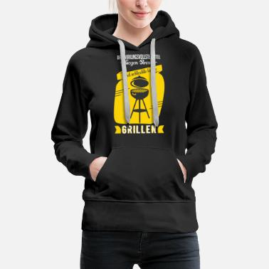 Charcoal Lighter Grill Shirt · Charcoal BBQ · Stress Gift - Women's Premium Hoodie