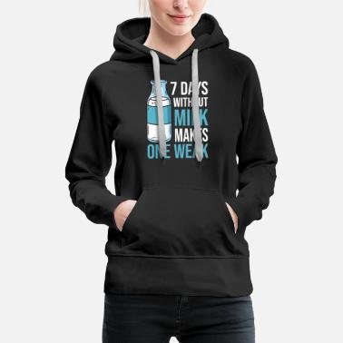 Milk Milk raw milk whole milk - Women's Premium Hoodie