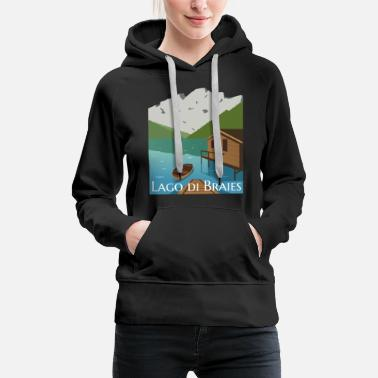 Illustration Lago di Braies - Women's Premium Hoodie