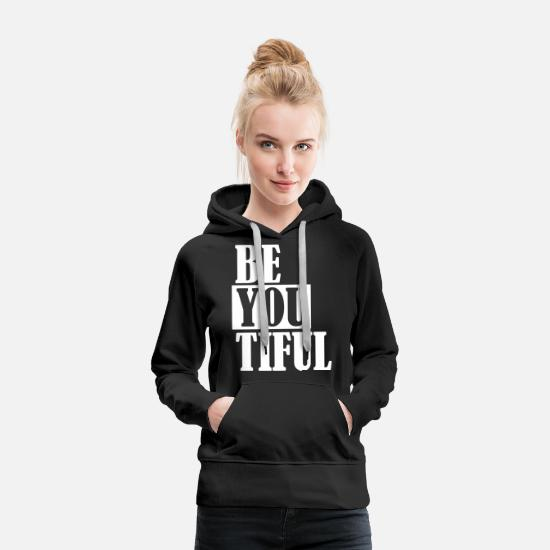 Sayings Hoodies & Sweatshirts - Beautiful beautiful wonderful w - Women's Premium Hoodie black
