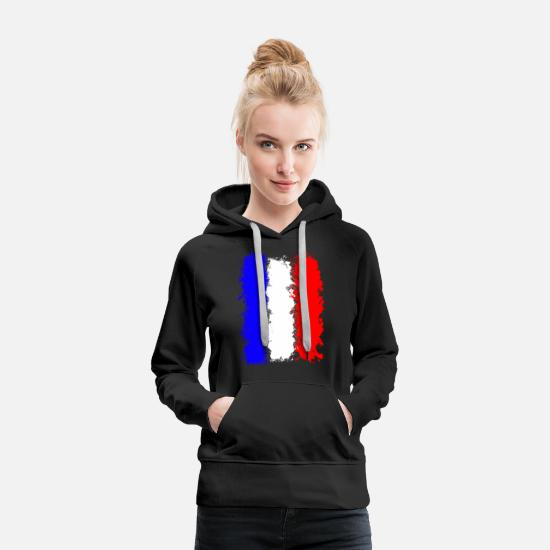 French Hoodies & Sweatshirts - France flag - Women's Premium Hoodie black
