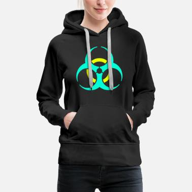 Virus Biohazard virus disease organic symbol sign gift - Women's Premium Hoodie
