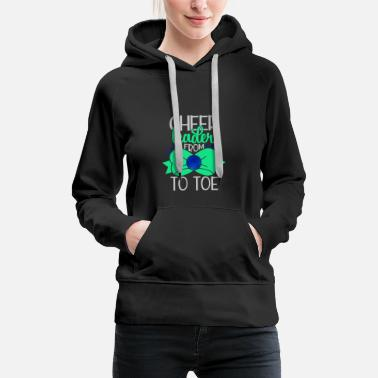 Sex cheerleader from bow to toe - Women's Premium Hoodie