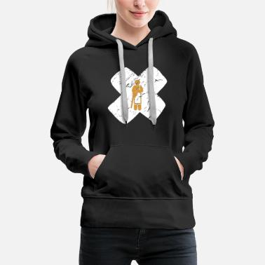 Daughter Monk Buddhism Praying Tibet Cross Gift - Women's Premium Hoodie