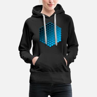 Hexagon hexagons - Women's Premium Hoodie
