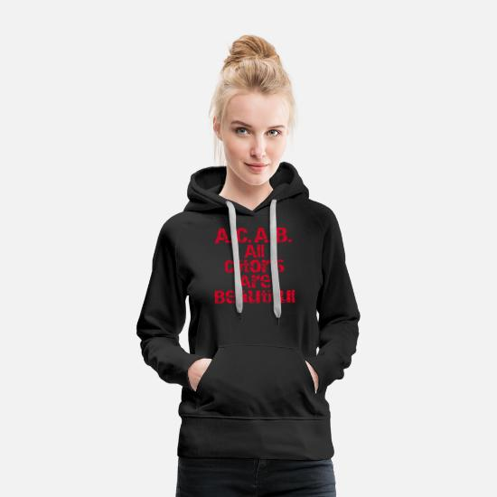 Ironie Pullover & Hoodies - all clitoris are beautiful - Frauen Premium Hoodie Schwarz