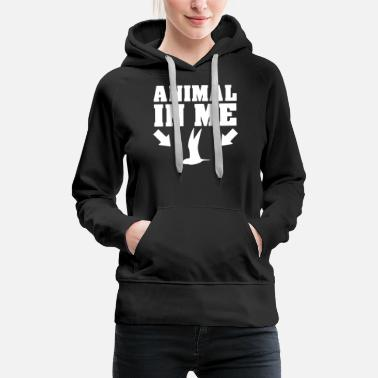 Animal Liberation fugl - Premium hettegenser for kvinner