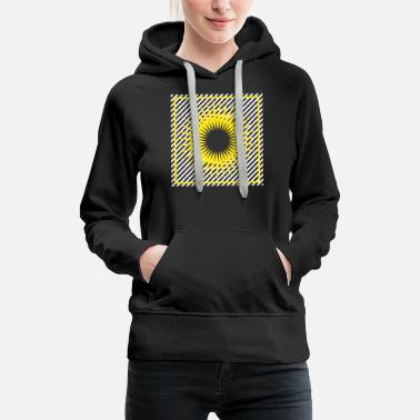 Ornament Geometry stripes sun abstract square - Women's Premium Hoodie