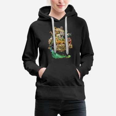 Animal Zoo animals animals design - Women's Premium Hoodie