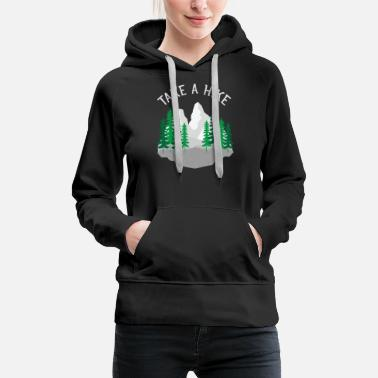 Take Take A Hike, Hiking, Mountains, Nature, Forest - Women's Premium Hoodie