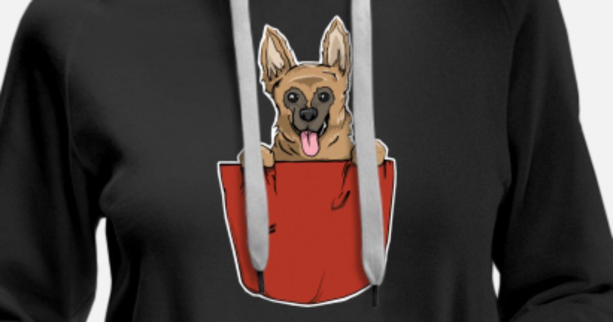 Cadeau de poche de coffre de chien de berger allemand Sweat à capuche premium Femme | Spreadshirt