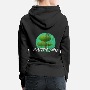 Globo Earthday Earth and Conservation - Felpa con cappuccio premium donna