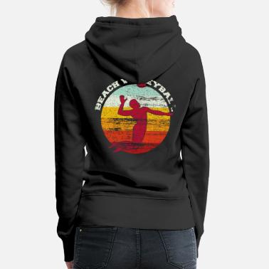Beach Volleyball Beach volleyball colorful colors vintage - Women's Premium Hoodie