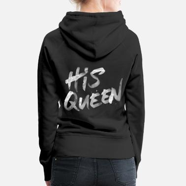 King His Queen Splash - White - Frauen Premium Hoodie