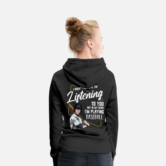 Christmas Hoodies & Sweatshirts - Cool Baseball Funny Sayings Baseballer Gift - Women's Premium Hoodie black