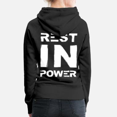 Powerbutton 2reborn rest in power wh - Felpa con cappuccio premium donna