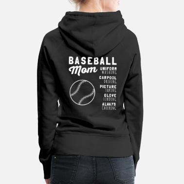 Baseball MOM Uniform Find handske Finding - Premium hættetrøje dame
