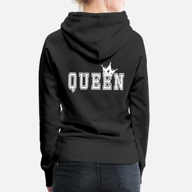 Queen Valentine's Matching Couples Queen Jersey - Women's Premium Hoodie