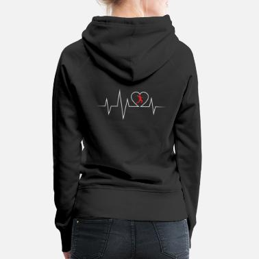 Ball Sport Handball EKG love and heartbeat - Women's Premium Hoodie