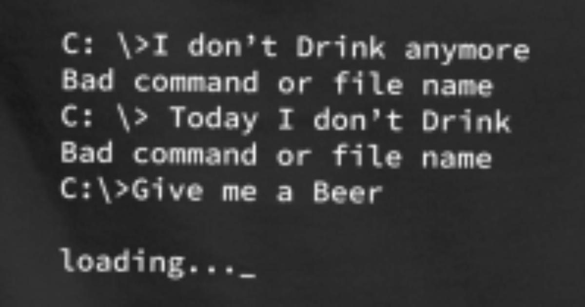 Cmd Cadeau Blague Nerd Alcool À De Bière Capuche Programmeur Sweat Yf7bg6yv