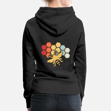 Yourself Bee Retro Vintage Beekeeper Birthday Gift - Women's Premium Hoodie