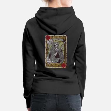 Diable Grim Reaper Tarot T-Shirt Satan Occult Devil Heath - Sweat à capuche premium Femme