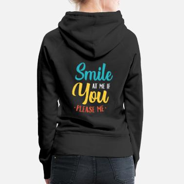 Party emoticon single flirt saying - Women's Premium Hoodie