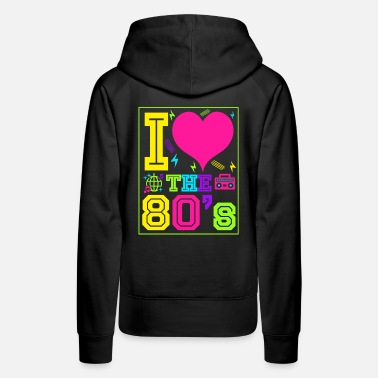 1983 I love the 80s gift eighties retro - Women's Premium Hoodie