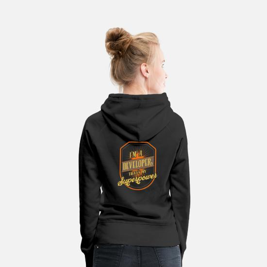 Computer Hoodies & Sweatshirts - developer - Women's Premium Hoodie black