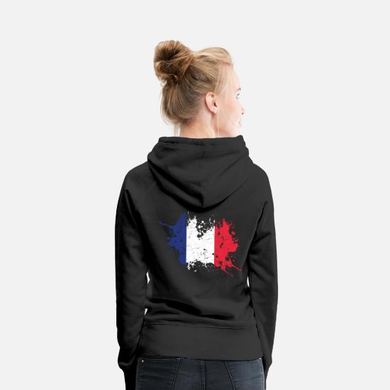 France Hoodies & Sweatshirts - France flag France flag - Women's Premium Hoodie black
