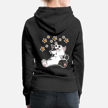 Moon Landing Space Space Cat Star Ladies Men Kids - Women's Premium Hoodie