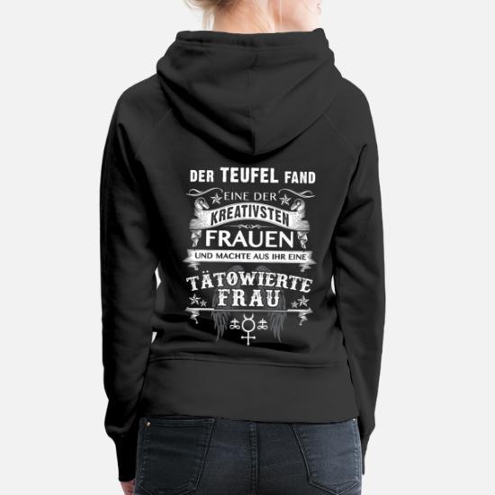Tätowierte Schwester Damen Kapuzenpullover Hoodie Geburtstag Geschenk Tattoo Neu