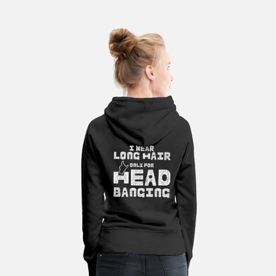 Birthday Hoodies & Sweatshirts - Hard Rock Headbanger Gift Saying Heavy Metal - Women's Premium Hoodie black