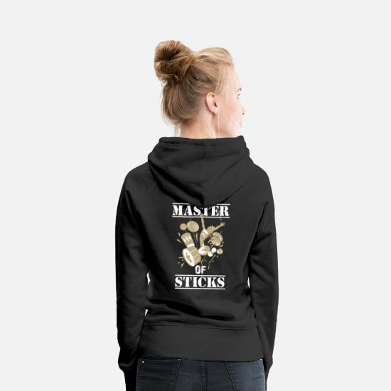 Song Hoodies & Sweatshirts - Master of Sticks - Women's Premium Hoodie black