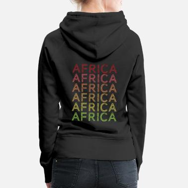 Safari Africa Vintage 70's Retro Colors Gift - Women's Premium Hoodie