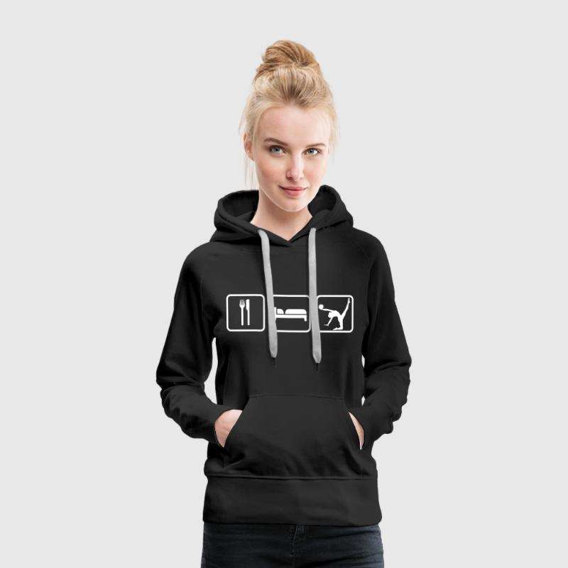 Eat Sleep Gymnastics - Frauen Premium Hoodie