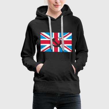 Hammer and Sickle Union Jack; Union Jack - Sudadera con capucha premium para mujer