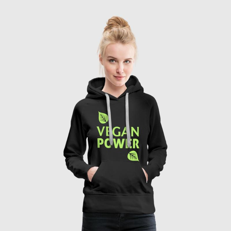 Vegan Power - Sweat-shirt à capuche Premium pour femmes