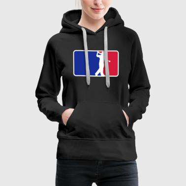 golfleague - Sweat-shirt à capuche Premium pour femmes