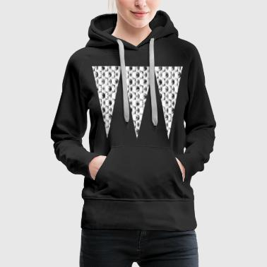 Checkered Triangles Checkered Abstract Gift Gift Idea - Women's Premium Hoodie