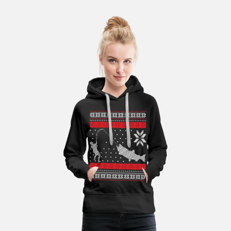 Christmas Hoodies & Sweatshirts - Angler - Ugly Christmas - Women's Premium Hoodie black