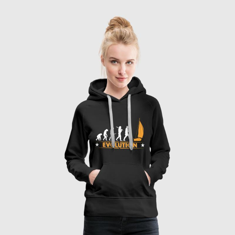 Segeln Evolution - orange/weiss - Frauen Premium Hoodie