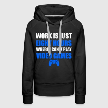 PLAY VIDEO GAMES  - Sweat-shirt à capuche Premium pour femmes