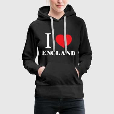 I Love London I love England gift birthday Christmas - Women's Premium Hoodie