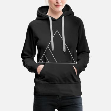 Plain Icons shapes triangle gift geometric line - Women's Premium Hoodie